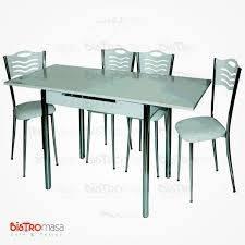Beyaz açılır mutfak masası