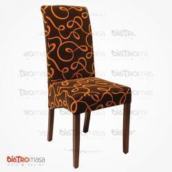 Desenli giydirme sandalye