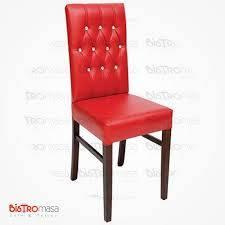 Kırmızı Deri Kapitoneli Sandalye