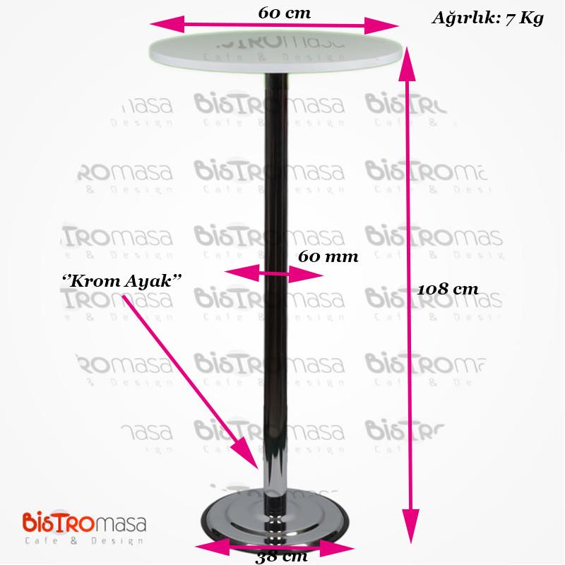 Beyaz renk bistro masa ölçüleri