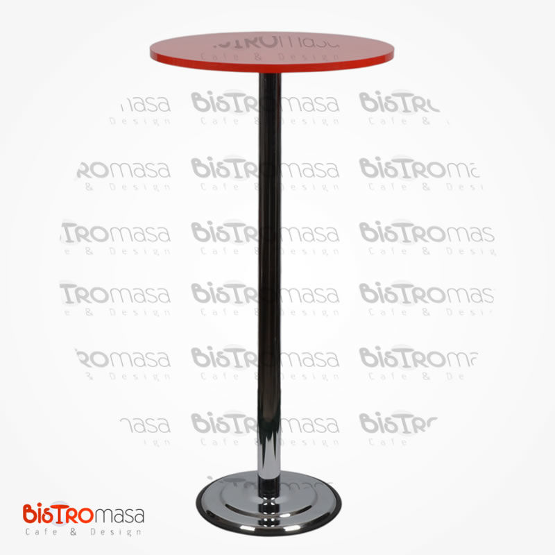 Kırmızı renk bistro masa