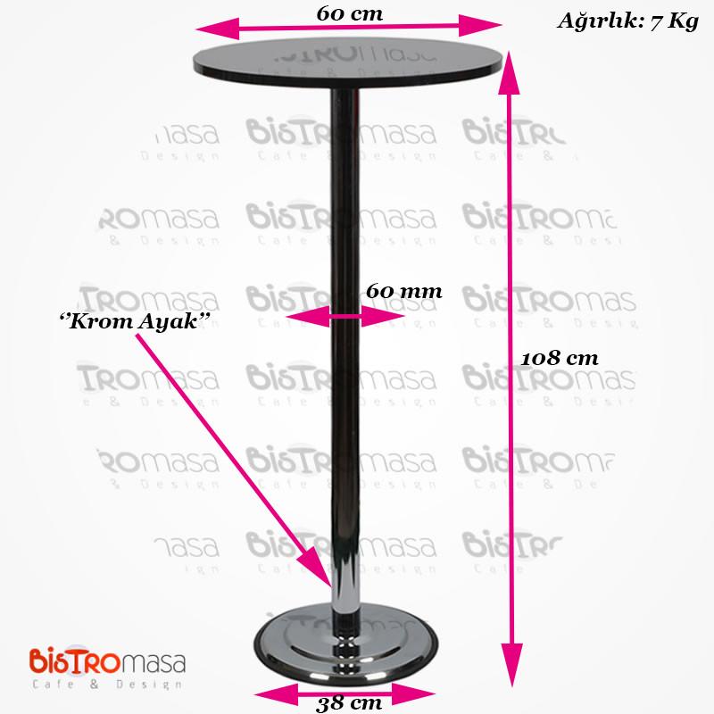 Siyah renk bistro masa ölçüleri