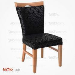 Siyah cafe sandalye