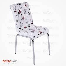 Bordo çiçek desenli petli sandalye