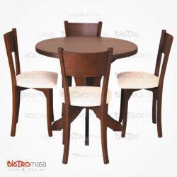 Yuvarlak cafe masa sandalye