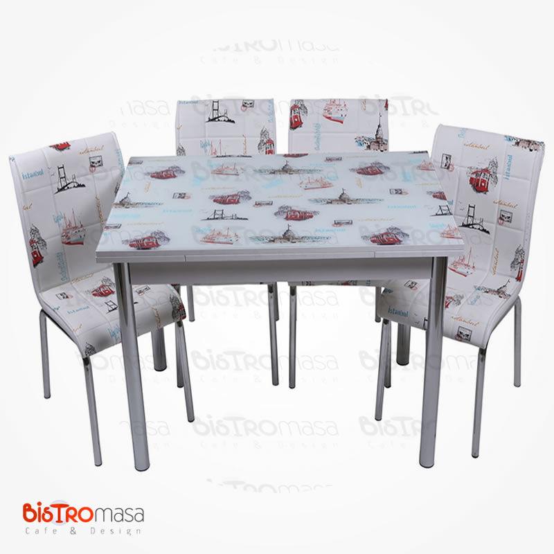 İstanbul desenli mutfak masası