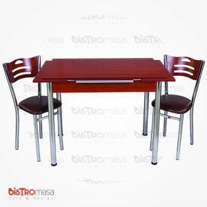 Kiraz renk mutfak masası 4 sandalyeli