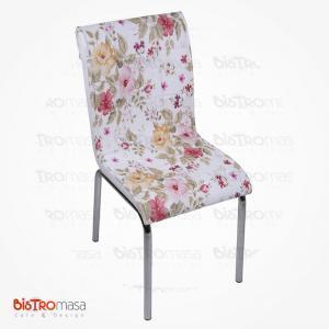 Çiçek bahçesi desenli petli sandalye