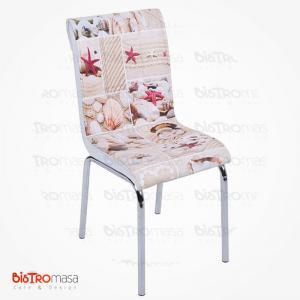 Deniz kabuğu desenli petli sandalye