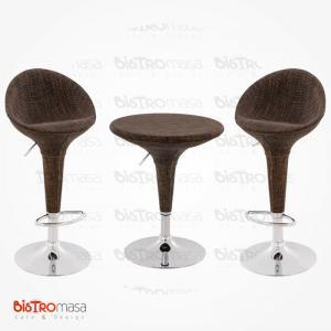 Hasırlı bistro masa sandalye