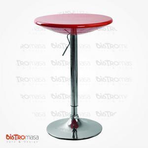 Kırmızı ayarlanabilir bistro masa