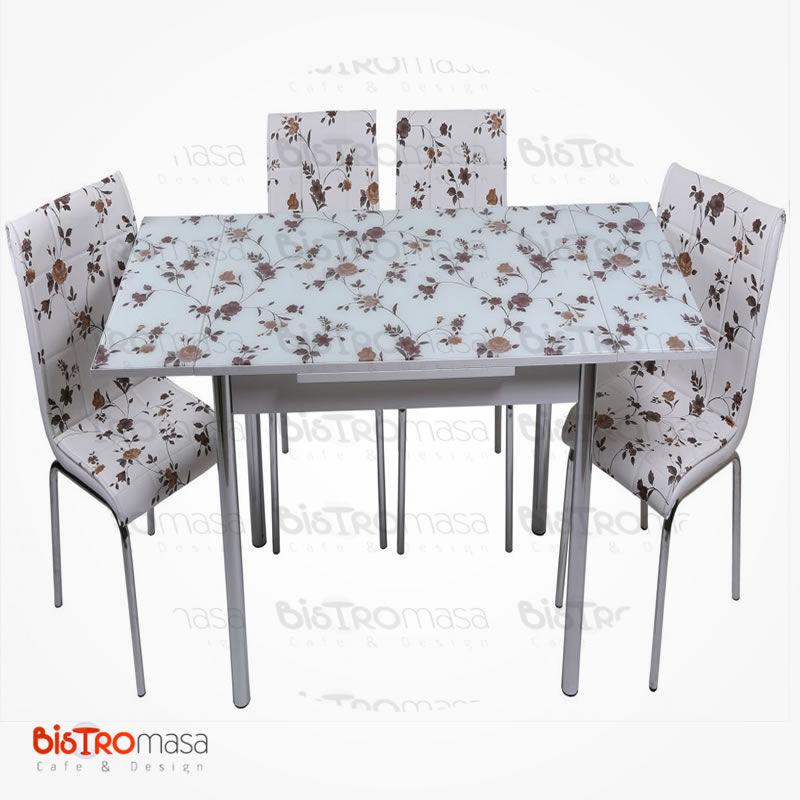 kahverengi-çiçekli-mutfak-masa-sandalye