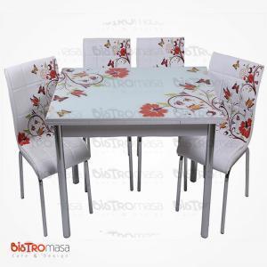 Kelebek desenli mutfak masası