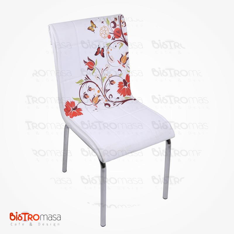 Kelebek desenli petli sandalye