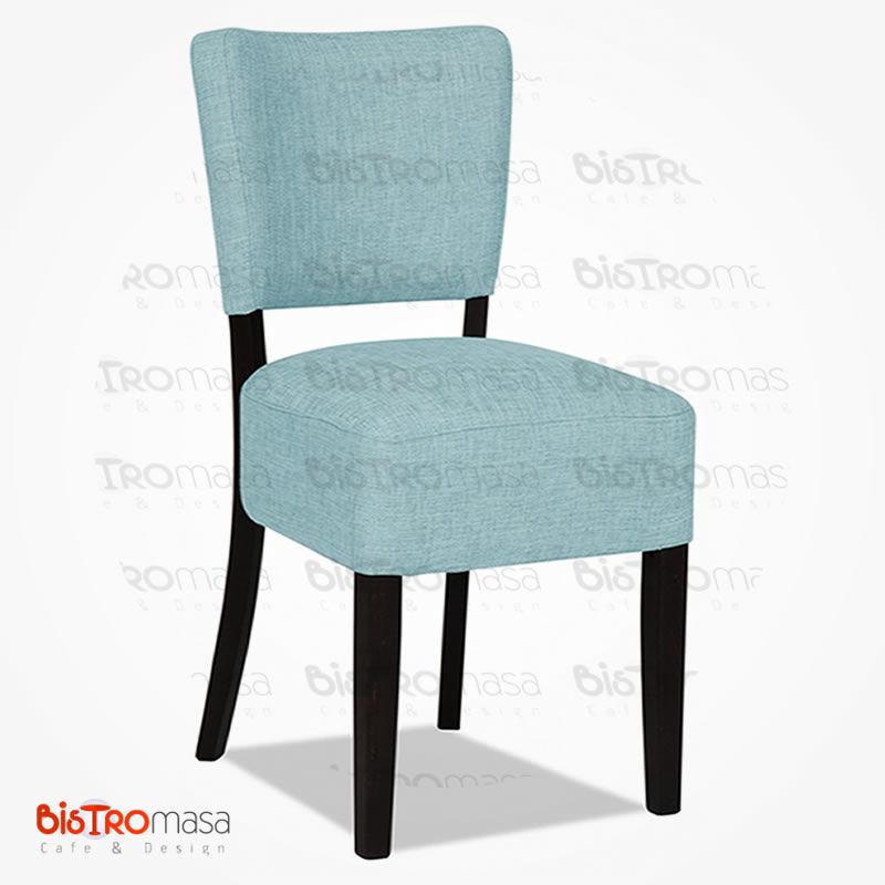 Mavi ahşap sandalye
