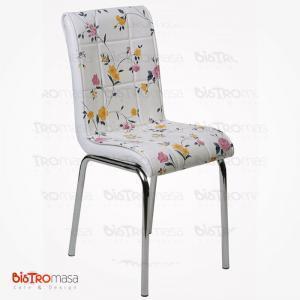 Sarı çiçekli petli sandalye