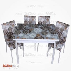 Simge desenli mutfak masası