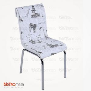 Siyah london petli sandalye