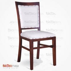 Beyaz renk ahşap sandalye