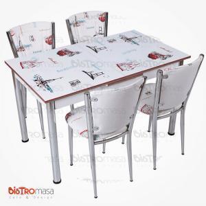 İstanbul desenli açılır mutfak masası