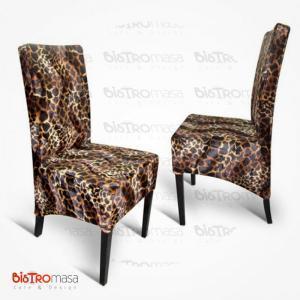Jaguar desenli paçalı sandalye