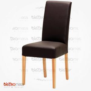 Kahverengi renk giydirme ahşap sandalye
