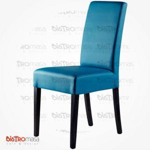 Mavi renk giydirme ahşap sandalye