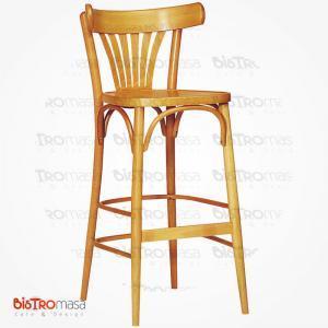 Meşe renk thonet bar sandalyesi