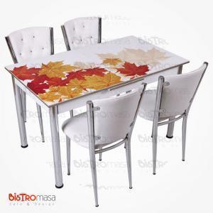 Sonbahar desenli açılır mutfak masası