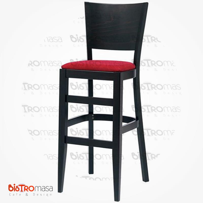 Venge renk ahşap bar sandalyesi