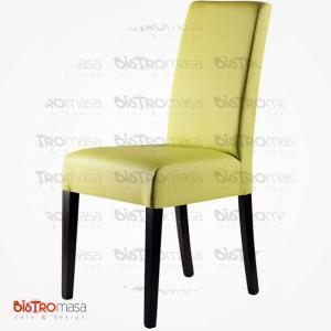 Yeşil renk giydirme ahşap sandalye