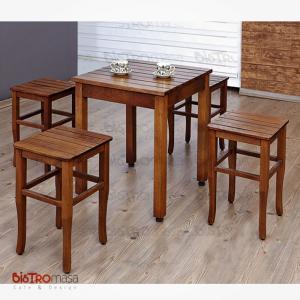 Izgaralı cafe masa takımı
