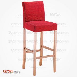 Kırmızı bar sandalyesi
