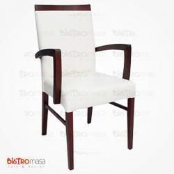 Kollu ahşap sandalye