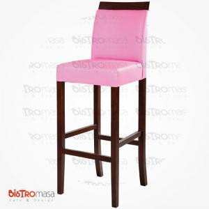 Pembe bar sandalyesi
