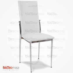 Beyaz metal sandalye