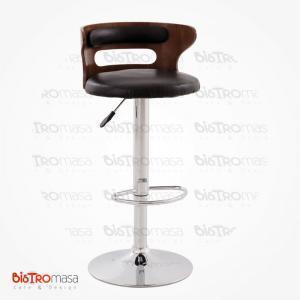 Ahşap sırtlı bar sandalyesi