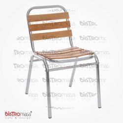 Dış mekan sandalye alüminyum ahşap