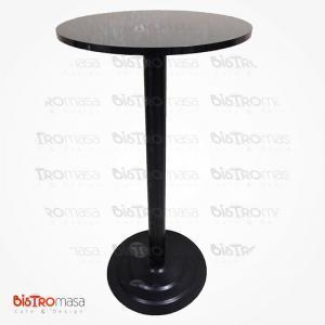 Siyah renk bistro masa