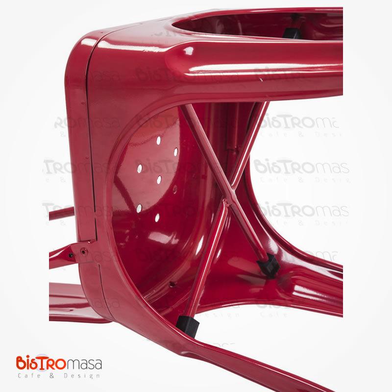 Metal kırmızı cafe sandalye alt kısım