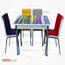 Gokkusagi desenli mutfak masasi