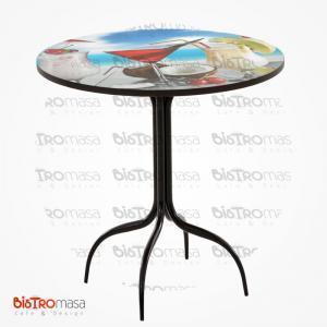Siyah ahtapot ayak dijital baskılı masa
