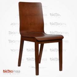 Ahşap monoblok sandalye