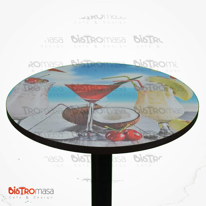 Dijital baskılı bistro masa