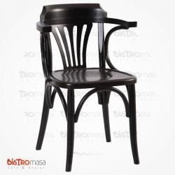 Siyah renk kollu thonet sandalye