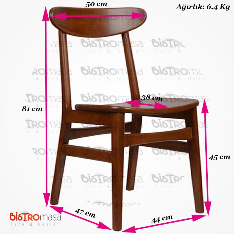 Ahşap cafe sandalyesi ölçüleri