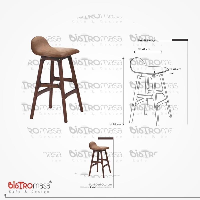 Ahsap Bar Sandalyesi Olculeri