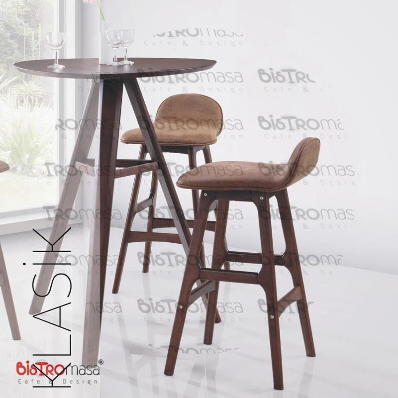 Ahsap Bar Sandalyesi Yakin Cekim