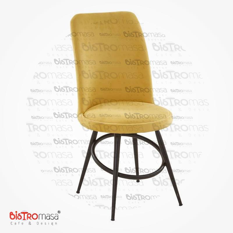 İç mekan metal ayak cafe sandalyesi on görünüm