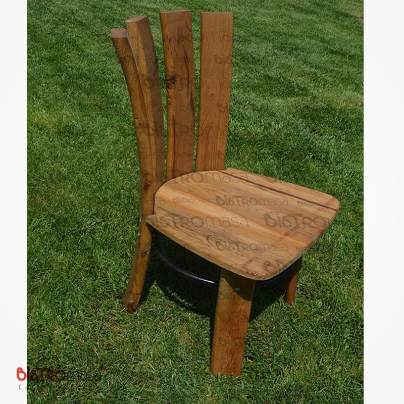 Meşe ahşap cafe sandalyesi